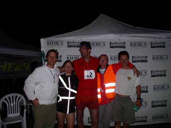 AuBergewohnlich From Left: Chris Kostman, Race Director, Birgit Dasch, The Desert Fox,  Ingrid Ruecknagel Boehnke, Bennie Lindberg.