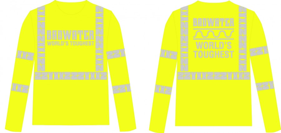 This BADWATER ZZYXXZ long-sleeve shirt (2015 edition) meets OSHA Class 3 Reflectivity Requirements for use during the day AND night.