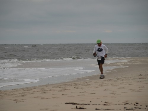 Jim Schroeder Grinding it out on the Sands of Bald Head Island. Photo by Chris Kostman, AdventureCORPS, Founder and Race Director.