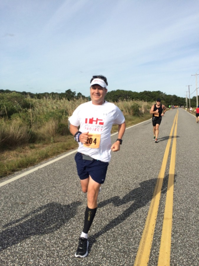 Yours truly at Mile 11. Photo by Coach Pam Rickard.