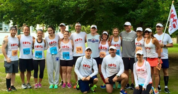 With the THP Runs team, the morning of the race!