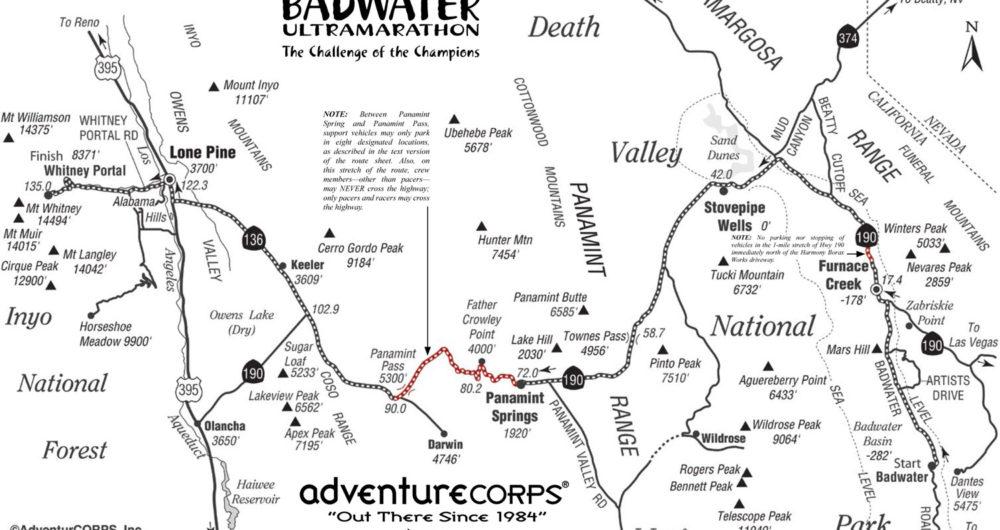 Badwater 135 Course Description
